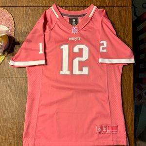 Pink Tom Brady Patriots Jersey - Girls XL - NFL